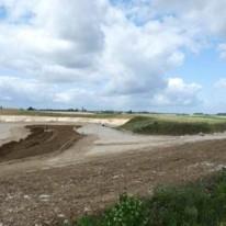Vue sur une partie des terrains reconstitués © EACM