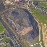 Mesures compensatoires menées par EACM dans le cadre de la réhabilitation d'un ancien terril de schistes en Wallonie (Photo Géoportail)